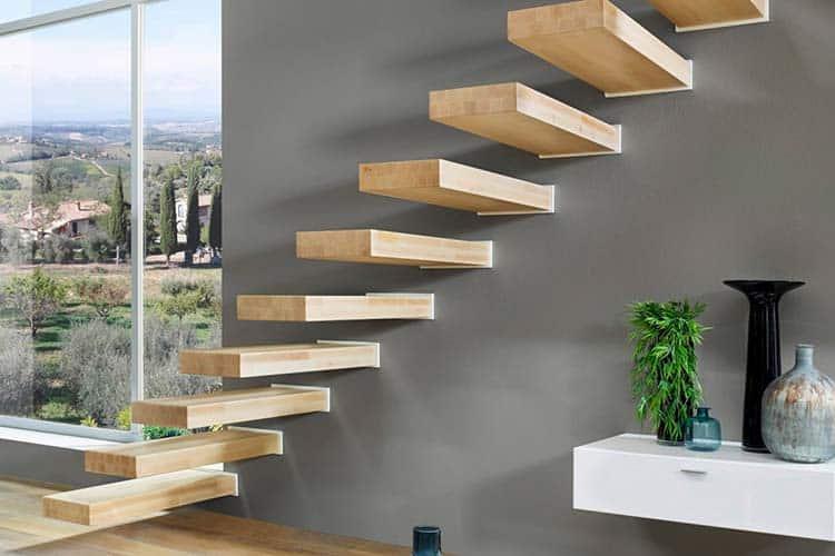 escalier suspendu acier cool escalier suspendu tournant au design moderne with escalier. Black Bedroom Furniture Sets. Home Design Ideas