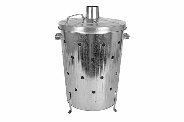 Buri Incinérateur galvanisé 75L incinérateur de déchets