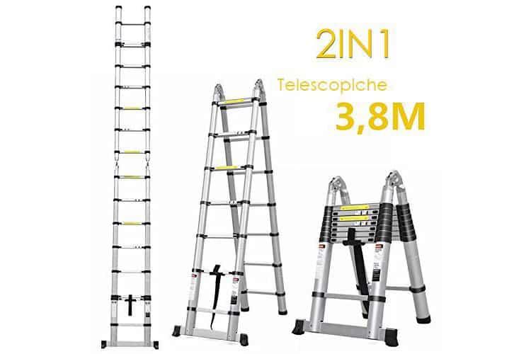 Fixkit 3.8M Pliante échelle télescopique