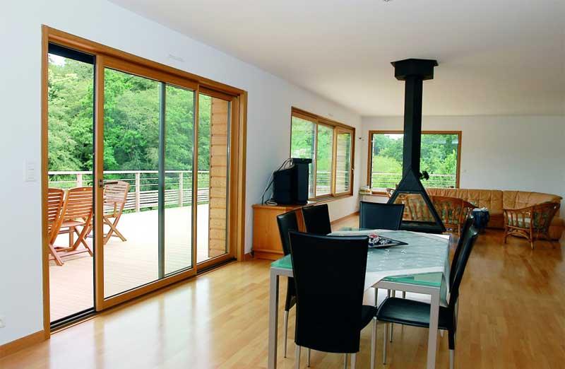Prix d'une baie vitrée mixte en bois et alu
