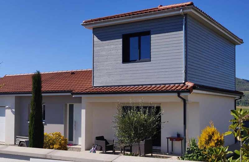 Prix d'une extension de maison par le haut