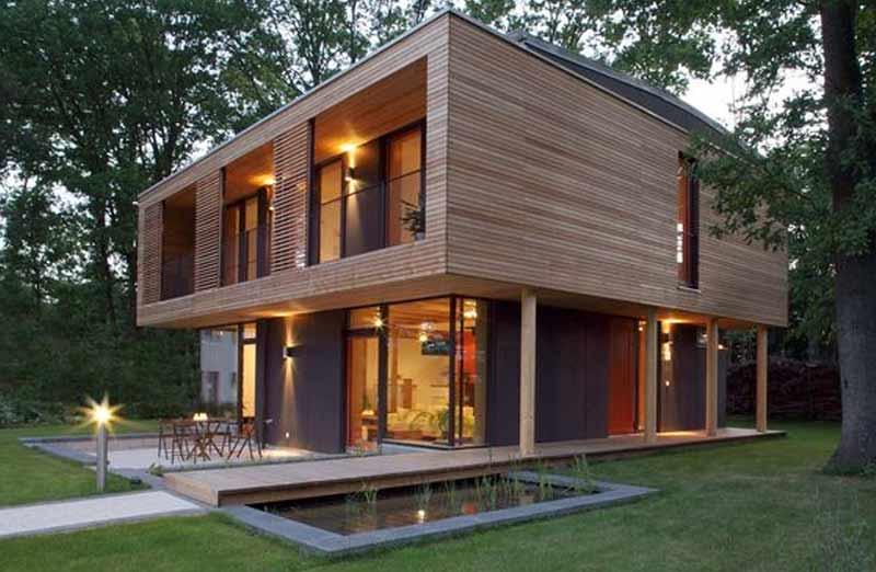 Prix de pose d'une maison en bois contemporaine clé en main