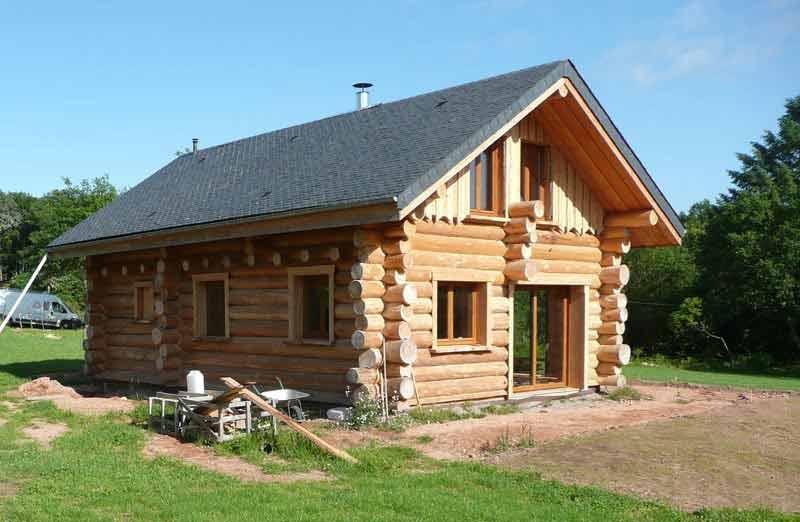 Prix de pose d'une maison en rondins de bois