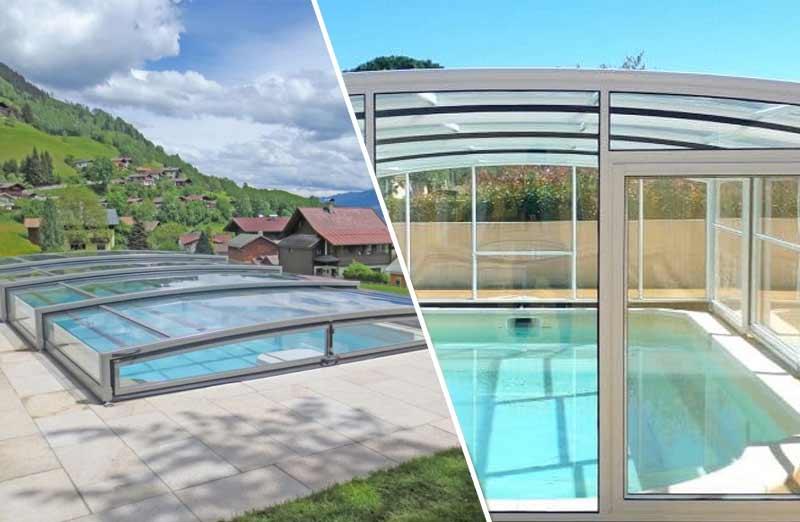 Comment choisir entre abri de piscine haut ou bas ?