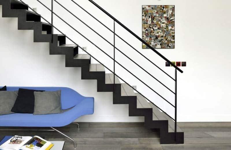 Choisir la forme d'un escalier de salon