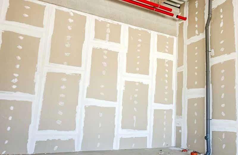La cloison sèche en plaque de plâtre