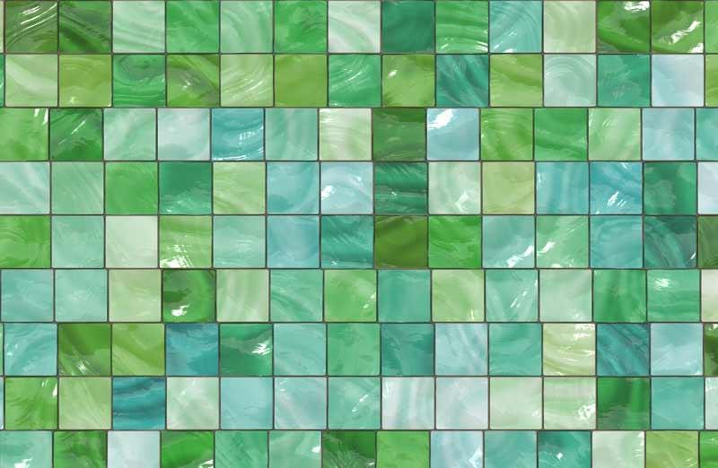 La mosaïque pour le sol d'une douche à l'italienne