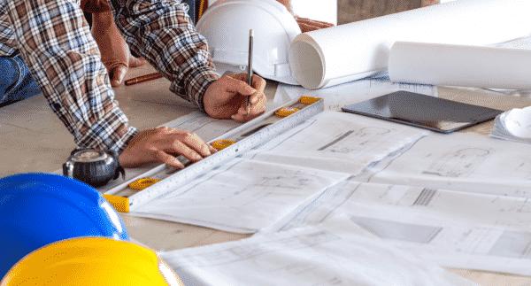 plan de construction d'un batiment industriel