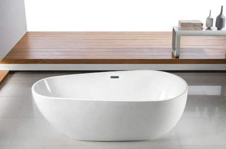 baignoire ilot blanc