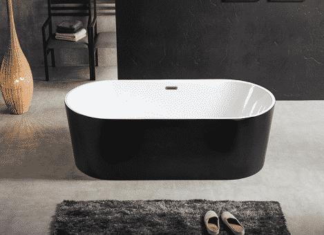 baignoire ilot noir