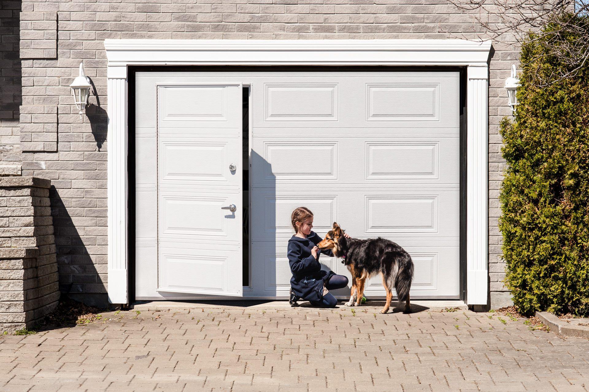 porte garage avec portillon