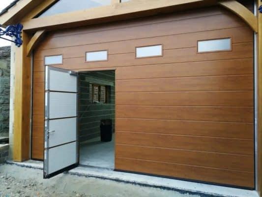 porte garage bois portillon