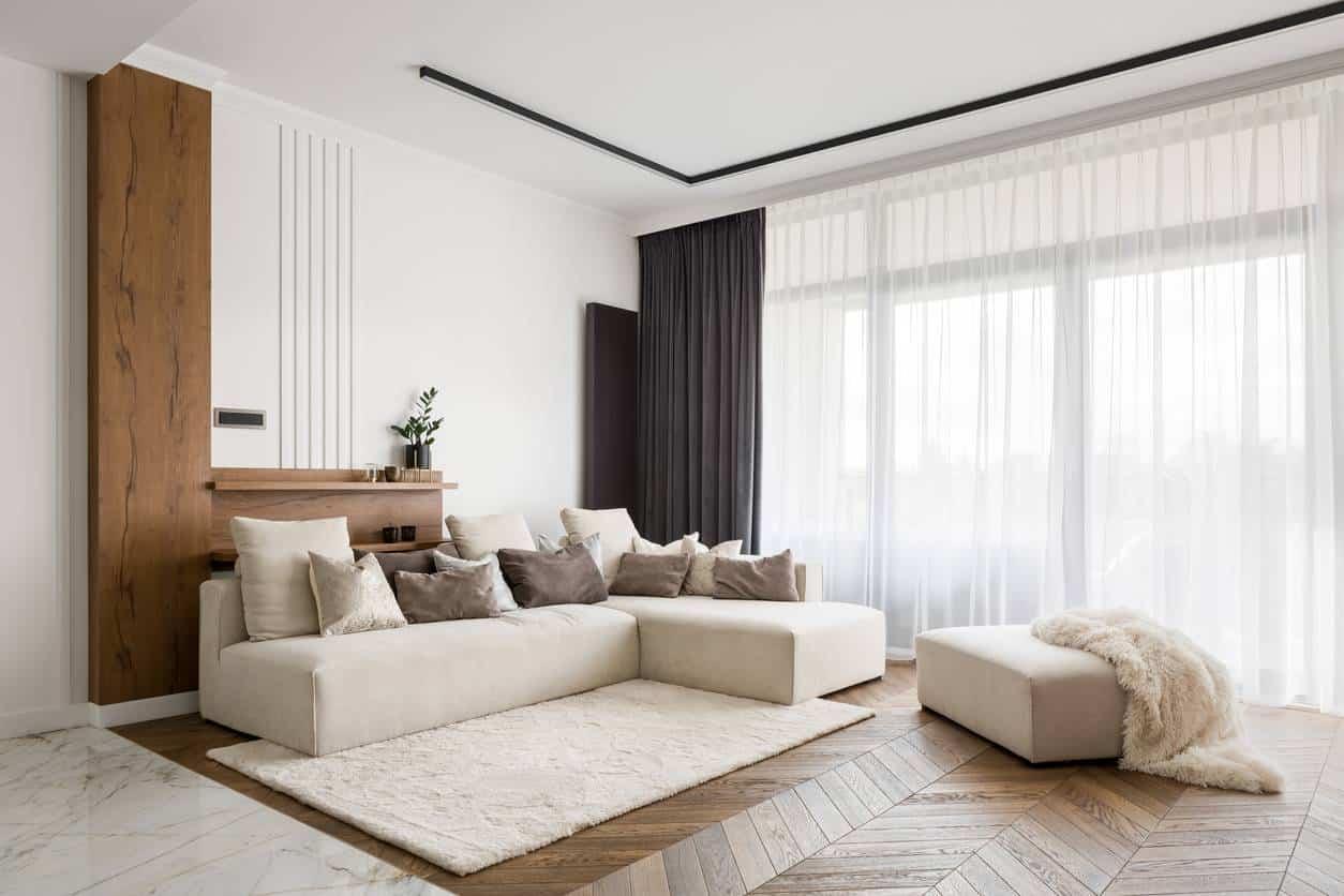 parquet bois salon zen